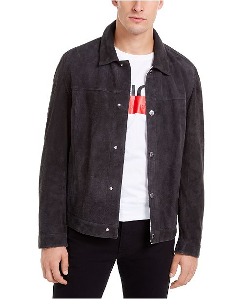 HUGO Boss Men's Lysander Suede Jacket