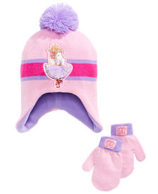 Fancy Nancy Toddler Girls 3-Pc. Fancy Nancy Pom Pom Hat & Mittens Set