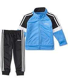 Little Boys 2-Pc. Colorblocked Jacket & Pants Tricot Track Set
