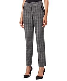 Plaid Slim-Fit Pants