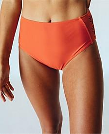Women's Laser Cut Mid Rise Swim Bottom