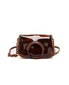 Like Dreams Clear Amber Chain Handbag