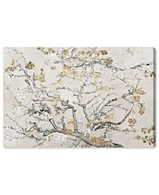 "Van Gogh in Gold Blossoms Inspiration Light Canvas Art, 36"" x 24"""