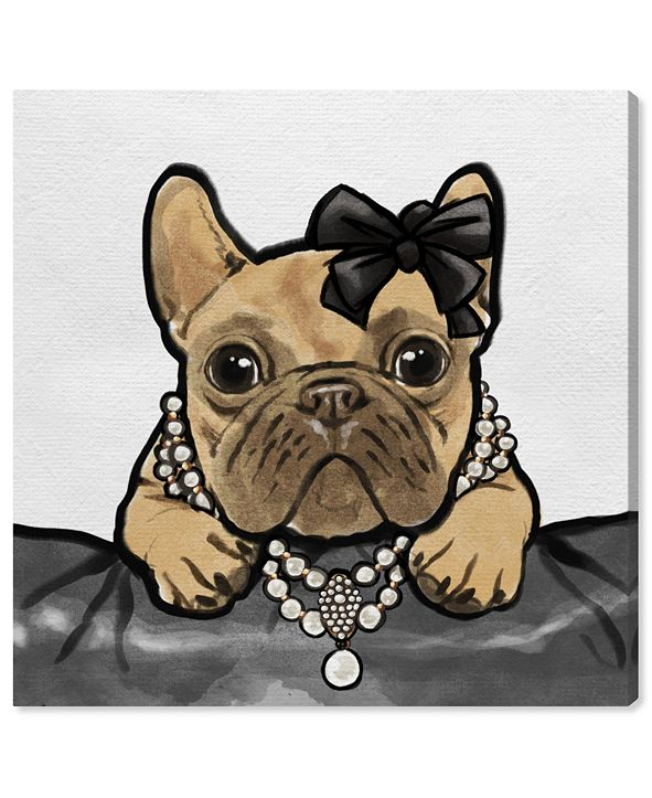 """Oliver Gal Glam Frenchie Canvas Art, 43"""" x 43"""""""