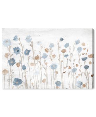 Beautiful Growth Light Blue Canvas Art, 24