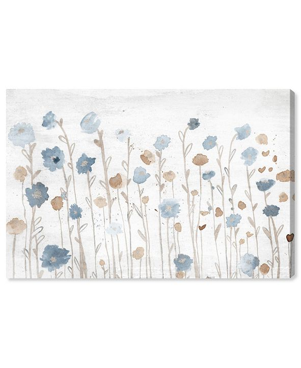 "Oliver Gal Beautiful Growth Light Blue Canvas Art, 15"" x 10"""