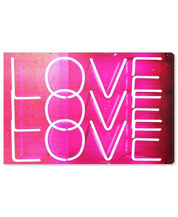 "Oliver Gal Love Neon Lights Canvas Art, 45"" x 30"""