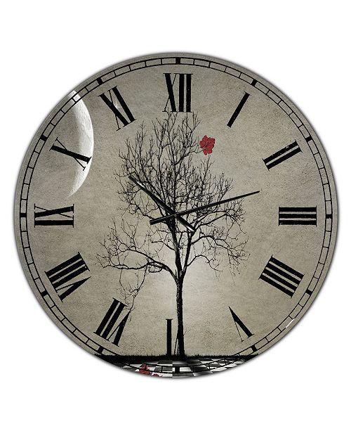 "Designart Inevitable Large Cottage Wall Clock - 36"" x 28"" x 1"""