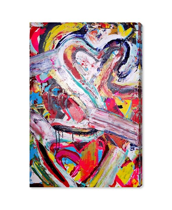 "Oliver Gal Love Remix Canvas Art, 10"" x 15"""