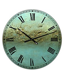 "Ocean Dreams Large Modern Wall Clock - 36"" x 28"" x 1"""
