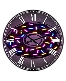 "Neon Sugar Fantasy Donut Large Modern Wall Clock - 38"" x 38"" x 1"""