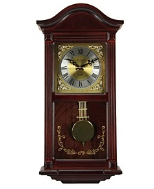 "Clock Collection 22"" Wall Clock with Pendulum and Chimes"