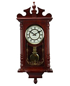 "Clock Collection 25"" Wall Clock with Pendulum and Chime"