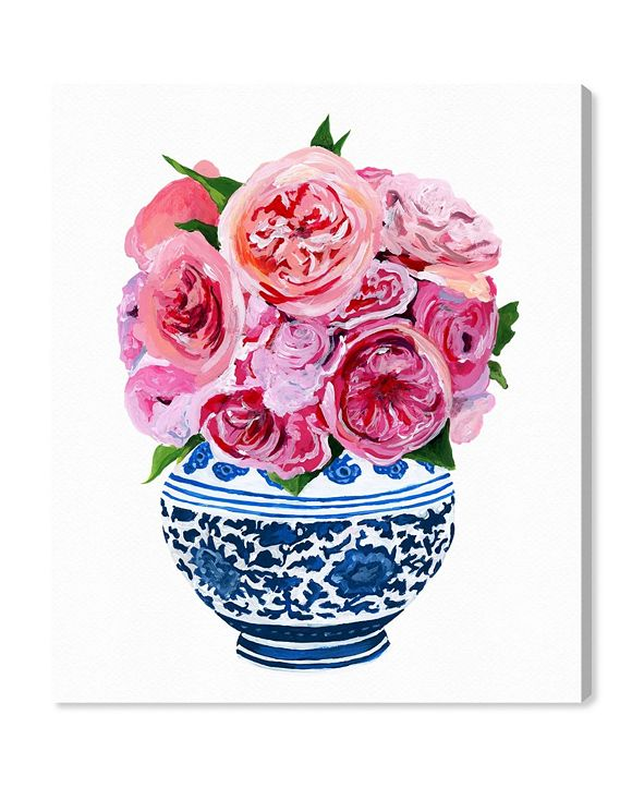 "Oliver Gal Julianne Taylor - Peonie Vase Canvas Art, 17"" x 20"""