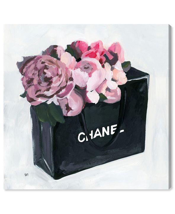 "Oliver Gal Peony Bag Canvas Art, 12"" x 12"""