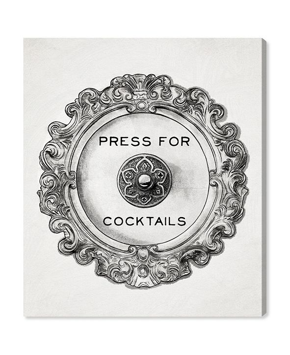 "Oliver Gal Press for Cocktails Canvas Art, 30"" x 36"""