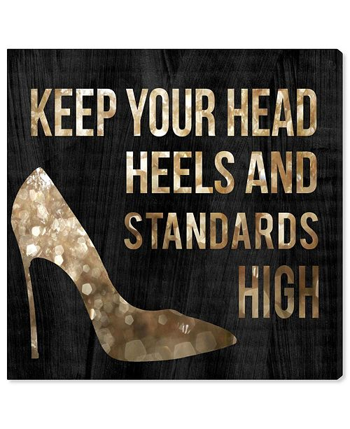 """Oliver Gal Head and Heels Canvas Art, 12"""" x 12"""""""