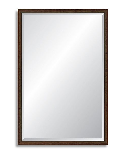 """Reveal Frame & Decor Reveal Foundry Bronze Beveled Wall Mirror - 24.25"""" x 37.75"""""""