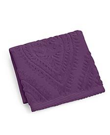 """Paisley Cotton 12"""" x 12"""" Wash Towel"""