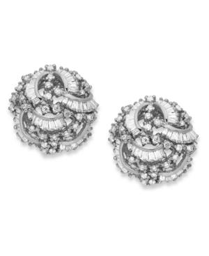 Classique by Effy Diamond Swirl Earrings (1-1 / 2 ct. t.w.) in 14k White Gold