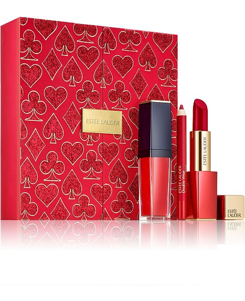 Estee Lauder 3-Pc. Limited Edition Lady Luck Ruby Lips Gift Set