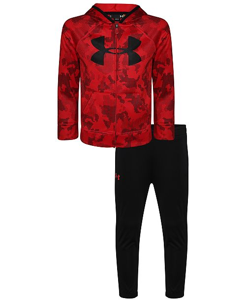 Under Armour Little Boys 2-Pc. Camo-Print Hoodie & Pants Track Set
