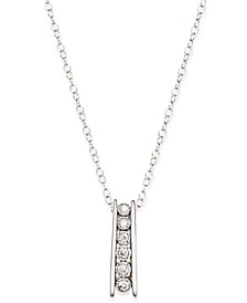 Round Diamond Pendant Necklace in Sterling Silver (1/10 ct. t.w.)