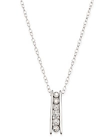 TruMiracle® Round Diamond Pendant Necklace in Sterling Silver (1/10 ct. t.w.)