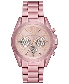 Women's Chronograph Bradshaw Pink Aluminum Bracelet Watch 43mm