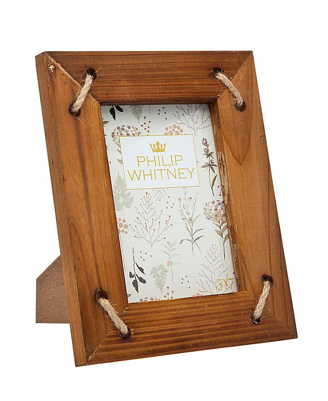 "Philip Whitney Wood W Rope Frame - 5"" x 7"""