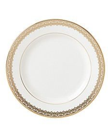 Lace Couture Gold Butter Plate