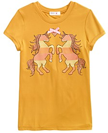 Big Girls Double Unicorn T-Shirt