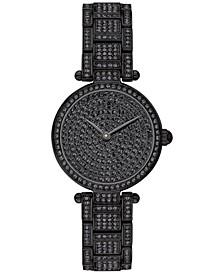 Women's Park Black Pavé Stainless Steel Bracelet Watch 26mm