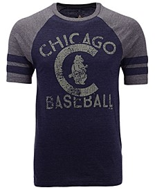 Men's Chicago Cubs Coop Stripes Earned Raglan T-Shirt