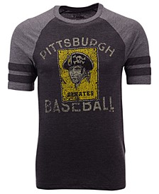 Men's Pittsburgh Pirates Coop Stripes Earned Raglan T-Shirt