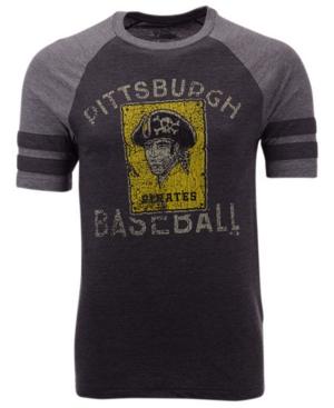 Men's Pittsburgh Pirates Coop Stripes Earned Raglan T-Shirt