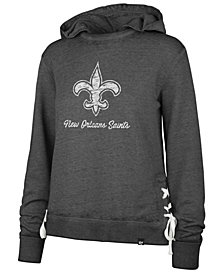 '47 Brand Women's New Orleans Saints Lace Up Hoodie
