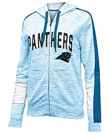 Women's Carolina Panthers Space Dye Full-Zip Hoodie