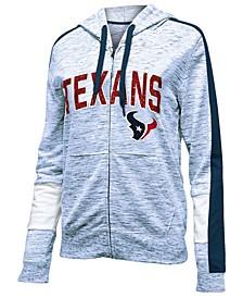 Women's Houston Texans Space Dye Full-Zip Hoodie