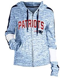 Women's New England Patriots Space Dye Full-Zip Hoodie