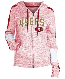 Women's San Francisco 49ers Space Dye Full-Zip Hoodie