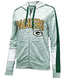 Women's Green Bay Packers Space Dye Full-Zip Hoodie