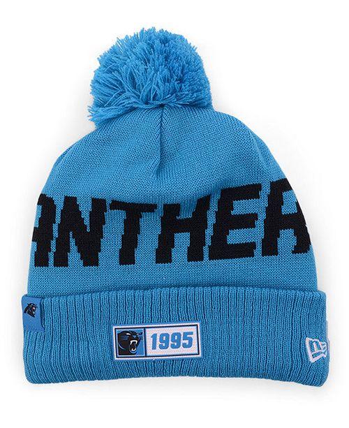 New Era Carolina Panthers Road Sport Knit Hat