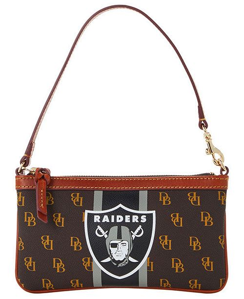 Dooney & Bourke Oakland Raiders Stadium Signature Large Slim Wristlet