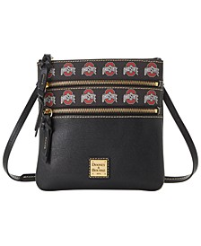 Ohio State Buckeyes Saffiano Triple Zip Crossbody