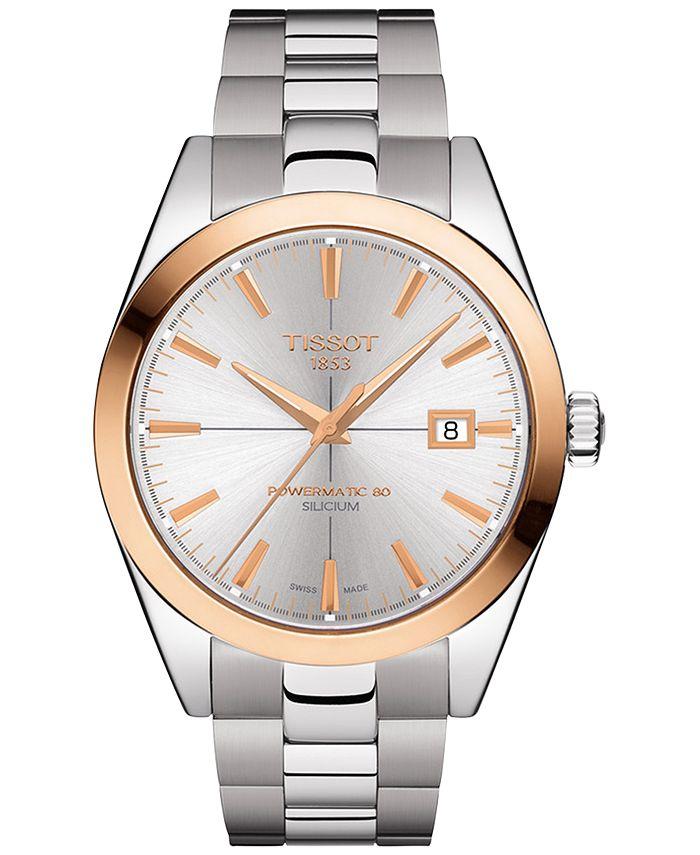 Tissot - Men's Swiss Automatic Gentleman Stainless Steel Bracelet Watch 40mm