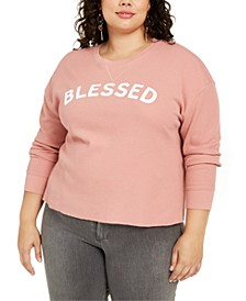 Trendy Plus Size Blessed Graphic-Print Top