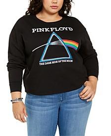 Trendy Plus Size Pink Floyd Prism Graphic-Print Sweatshirt