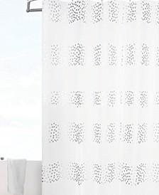 Stripe Dot 3D Semi-Transparent Shower Curtain/Liner