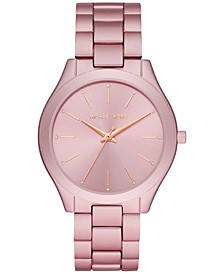 Women's Slim Runway Pink Aluminum Bracelet Watch 42mm